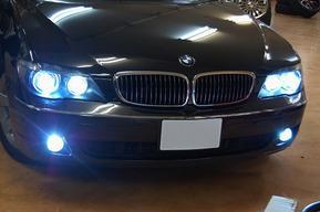 BMW E66後期 ロービーム、FOGランプHID8000ケルビン
