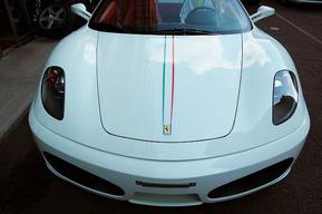 ボンネット、リアトランク ワンオフステッカー張り Ferrari F430スパイダー