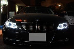 BMW E90 ヘッドライト LEDイカリング バルブ取り付け(ポジション球