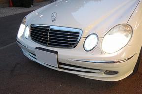 ベンツW211ワゴン ポジションバルブ&ナンバー灯LED化