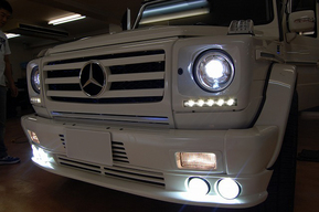 後期ルックヘッドライト、グリル 取り付け ダクト内LED装飾