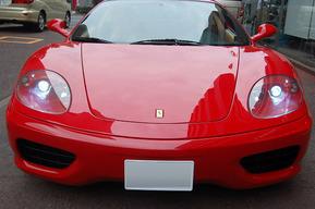 フェラーリ360モデナ HID8000K ポジション&ナンバー灯LED化