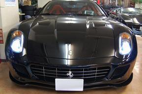 フェラーリ599 ロービームHID 8,000K 各所スワロフスキー取り付け