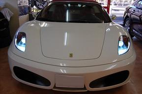 フェラーリ F430 スパイダー ポジションLED 純正HID 8000K化 ライセンス灯LED