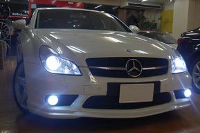 W219 AMGバンパーフォグ HID化 内装LEDバルブ交換