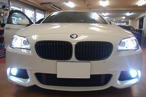 BMW F10 フォグランプHID取り付け ロービームHIDバルブ交換