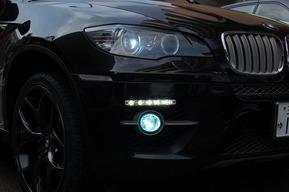 デイライト加工取り付け フォグランプHID取り付け テールスモーク塗装BMW X6