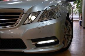 W212 AMGスポーツパッケージ前期 後期LEDデイライト取り付け