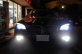 BMW F02 HAMANNフルキット フォグランプHIDキット取り付け