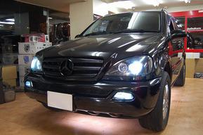 ベンツW163 ヘッドライトインナー ブラック塗装 LEXANI 24インチ
