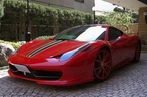 458イタリア ホイール ラッピング カスタム