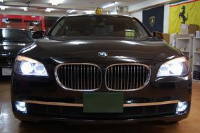 フォグランプHIDキット取り付け エンブレムドアカーテシLED BMW F02 F01