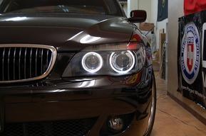 LEDイカリング取り付け BMW E66