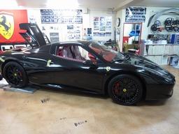 458スパイダー オプションカーボンパーツ ハイパーフォージド ホイール取り付け