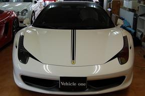 458イタリア カーボンラッピングカスタム アルミ&キャリパー塗装
