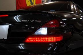 ベンツR230 AMG SL55 LEDバックランプバルブ取り付け フォグランプHIDカスタム