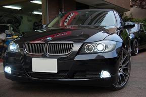 BMW E90 LEDイカリング フォグランプHIDキット 取り付けカスタム