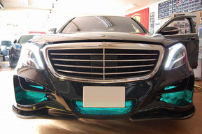 ベンツW222 ロリンザーカスタム車 LED装飾 LEDライト