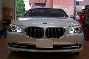 BMW F01 LEDイカリング 交換 カスタム