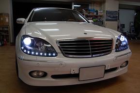 ベンツW221ルックヘッドライト ベンツW220 BRABUS B11 カスタム