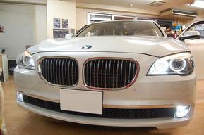 BMW F01 HIDカスタム フォグランプHIDキット取り付け