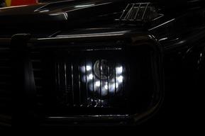 W463MANSORYヘッドライト取り付け カスタム HIDバルブ LEDライト交換