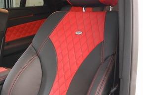 ベンツC292 GLE43 内装張り替え カスタム レッド×ブラック ワンオフシート カーボンステアリング取り付け