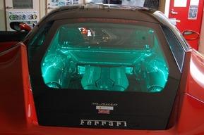 フェラーリ488GTB エンジンフードLEDカスタム
