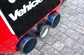 フェラーリ458スパイダー IPE可変マフラー 取り付け 純正アルミレッド塗装 カスタム