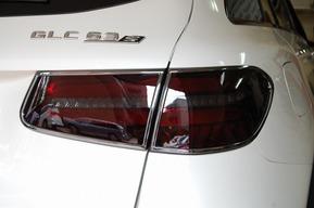 GLC63 テールレンズ スモーク塗装 カスタム ブラックアウト ヘッドライト&テールリング ブラックメッキ仕上げ