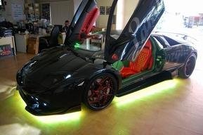 ムルシエラゴ LEDカスタム アンダーLED 流れるLED RGB リモコン操作LED ストロボ カスタム