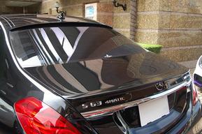 LORINSERルーフスポイラー WALDトランクスポイラー取り付け カスタム ベンツW222 AMG S63