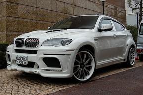 HAMANNフルエアロオーバーフェンダーカスタム FORGEATO 22インチホイール取り付けカスタム BMW X6M